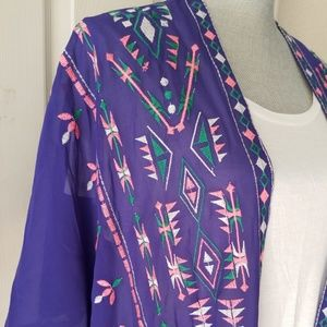 Neon tribal kimono